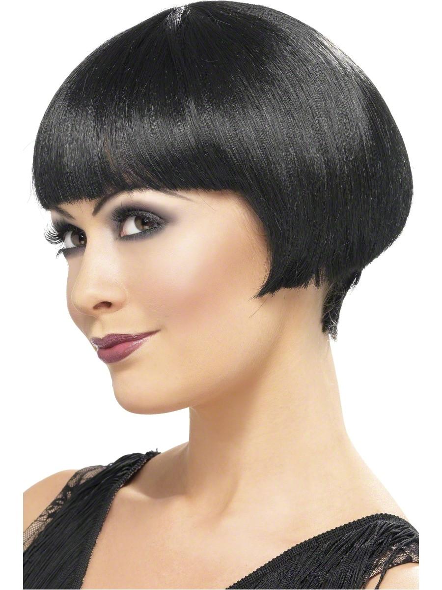 20s flapper bob wig black