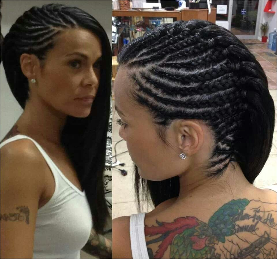 Best black cornrow ponytail and bun hairstyles in 2017 for short long medium hair pictures of side braided cornrows designs african american braids and