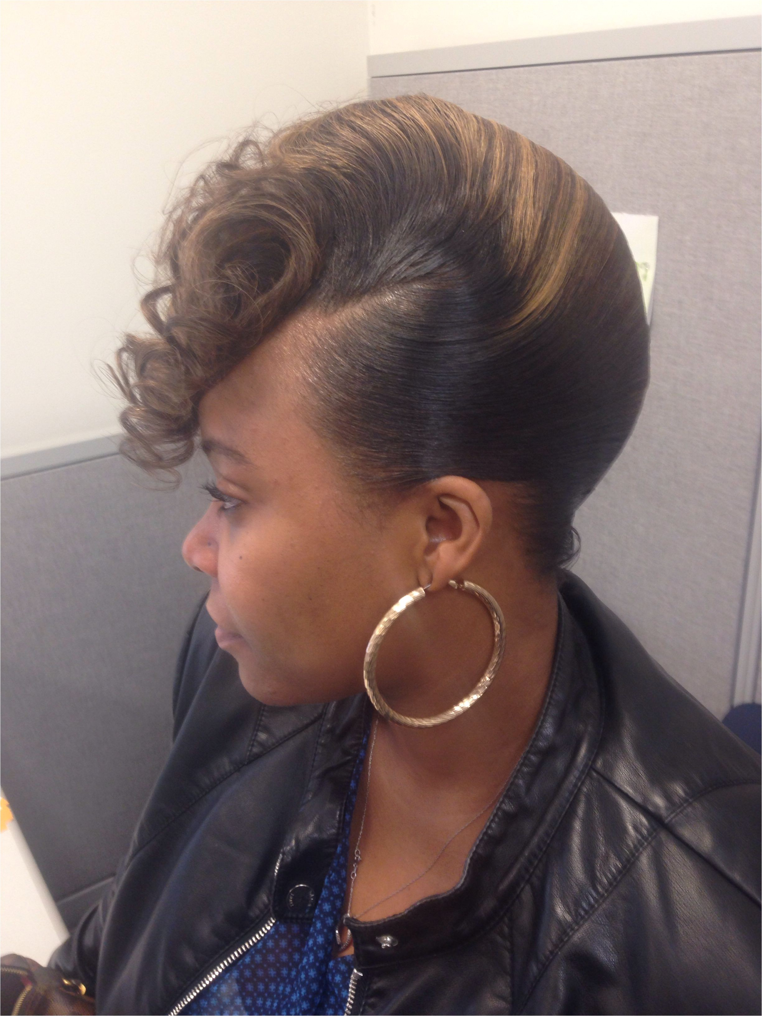 French roll Black women Hair More