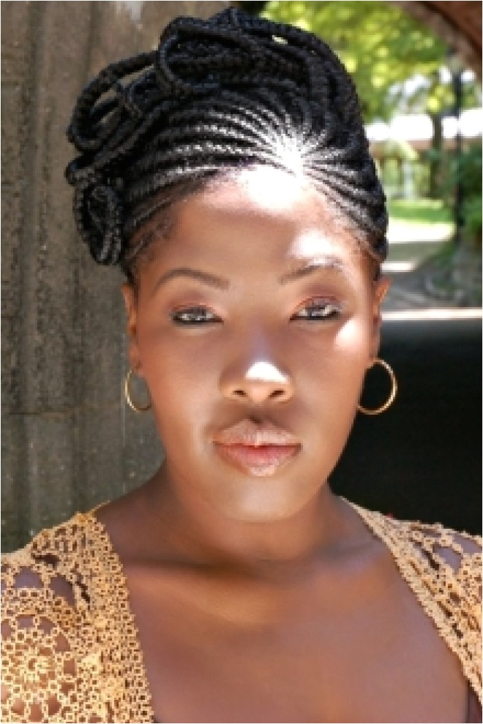 back braids for african american wedding hairstyle