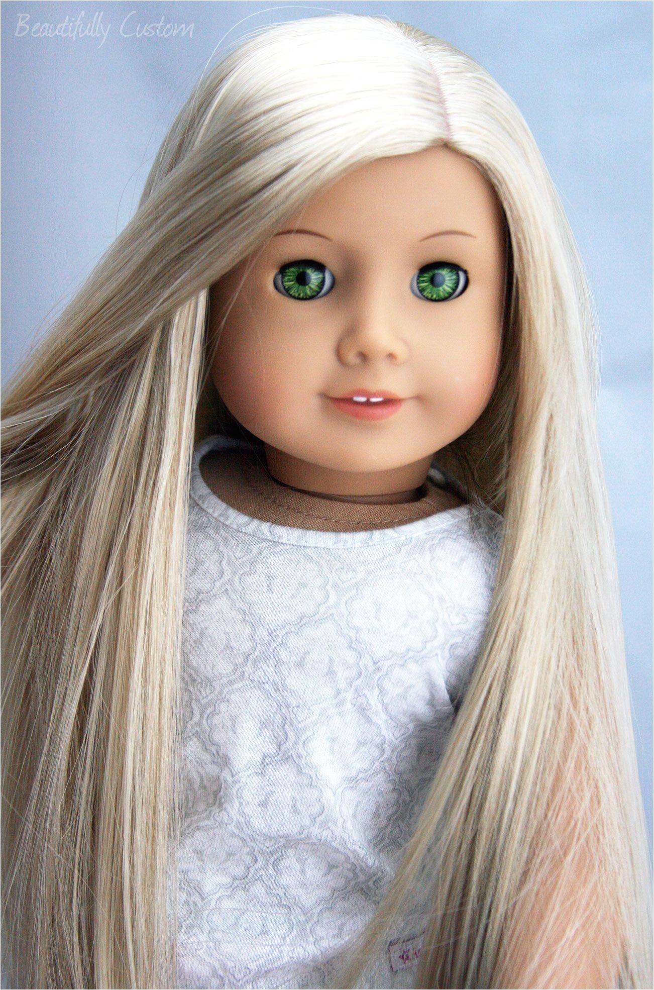 Custom Ooak American Girl Doll Felicity Green Eyes Julie Long Related to American Girl Doll Hairstyles