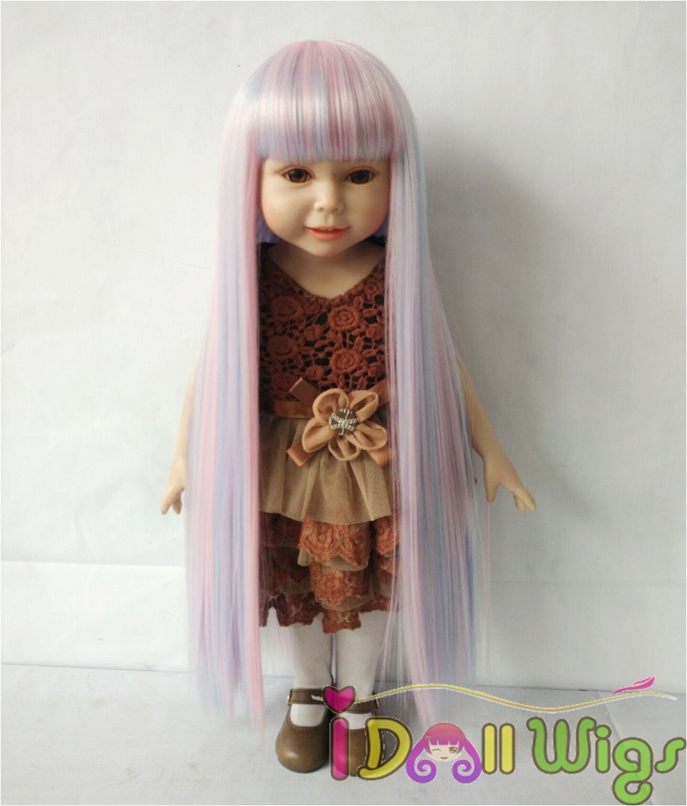 55 American Girl Doll Hairstyles Fresh American Girl Doll Wig Rainbow Pink soft Synthetic Straight Hair