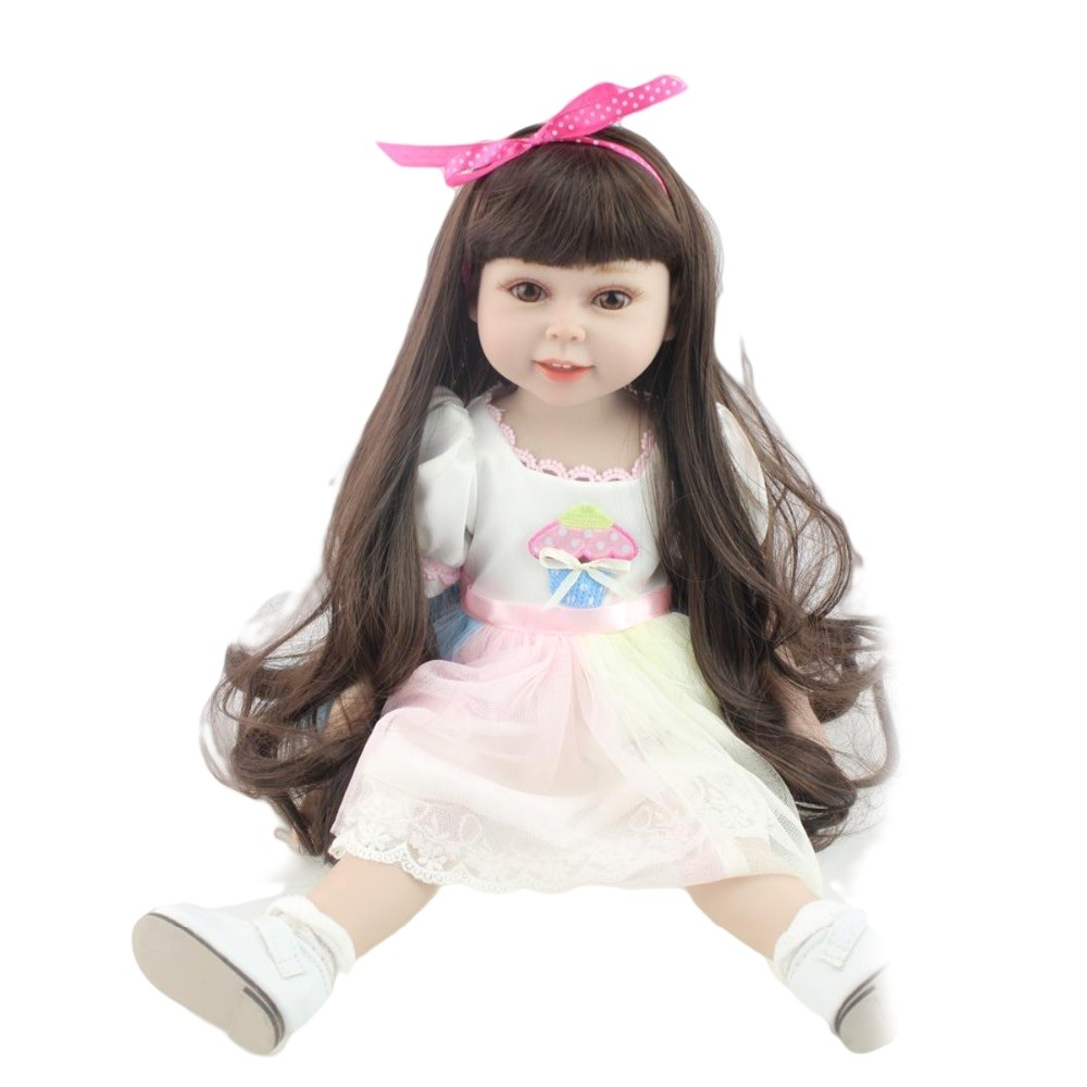 Straight · Npk Full Body Vinyl Doll American toys Girl Reborn Babies Long In American Girl Doll Hairstyles