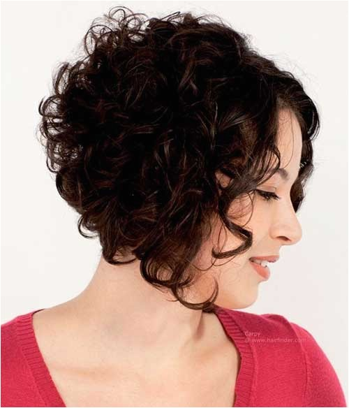 Angled Bob Haircut for Curly Hair 30 Curly Bob Hairstyles 2014 2015