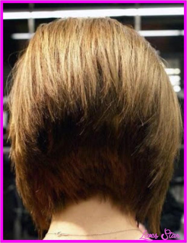 long angled bob haircut back view