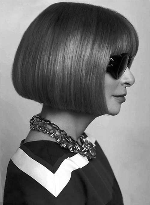 Anna Wintour Bob Haircut Best Short Straight Hair for Women