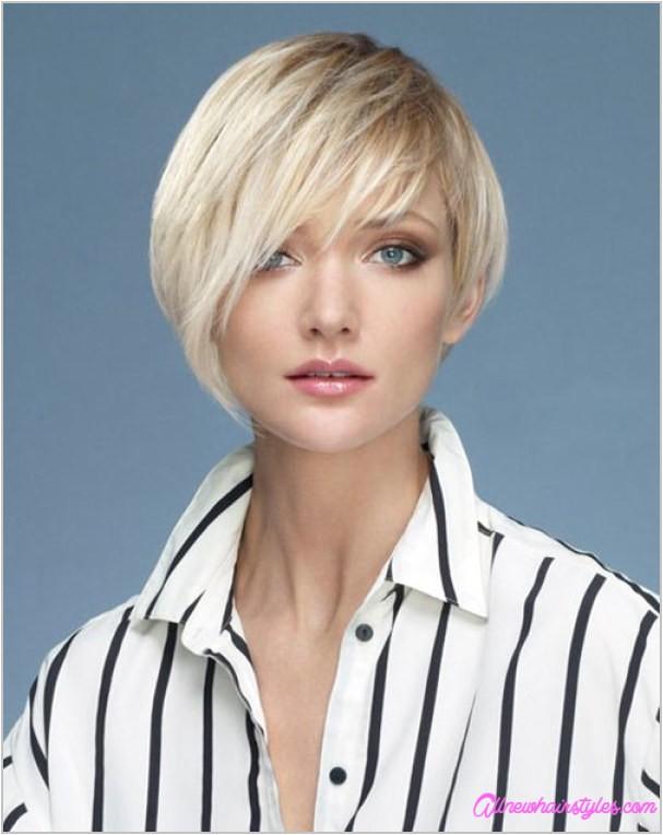 short asymmetrical haircuts round faces