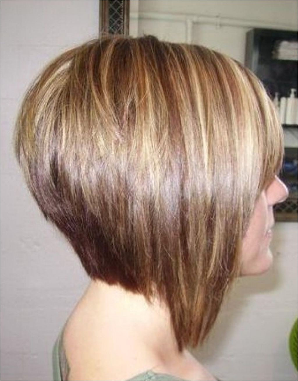 stacked inverted bob back view