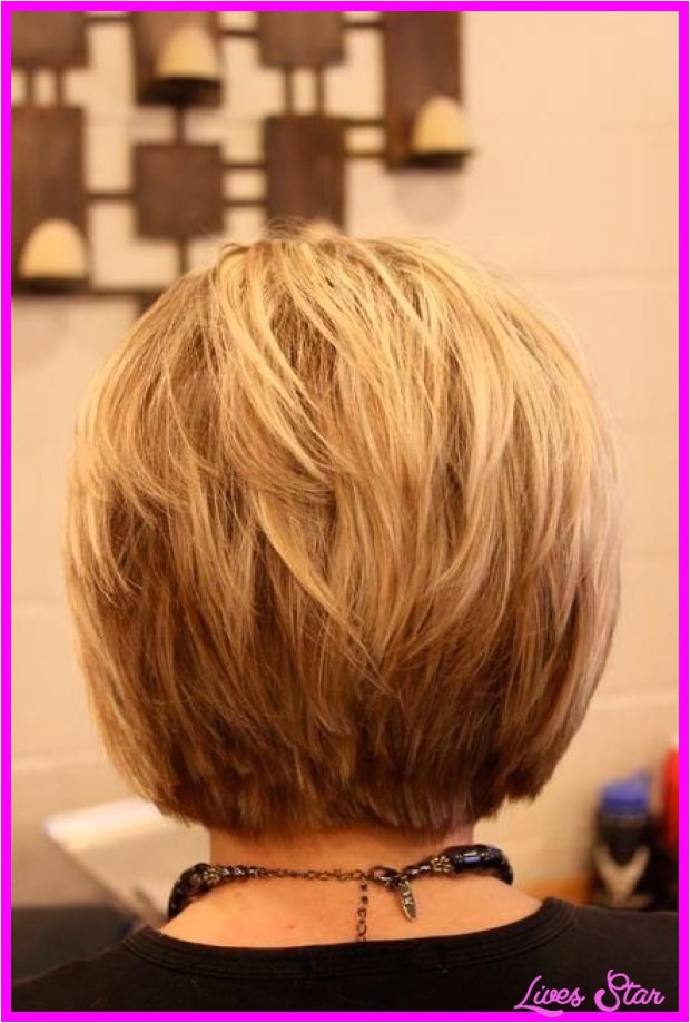 Back Of Stacked Bob Haircut Back View Of Short Hairstyles Stacked Livesstar