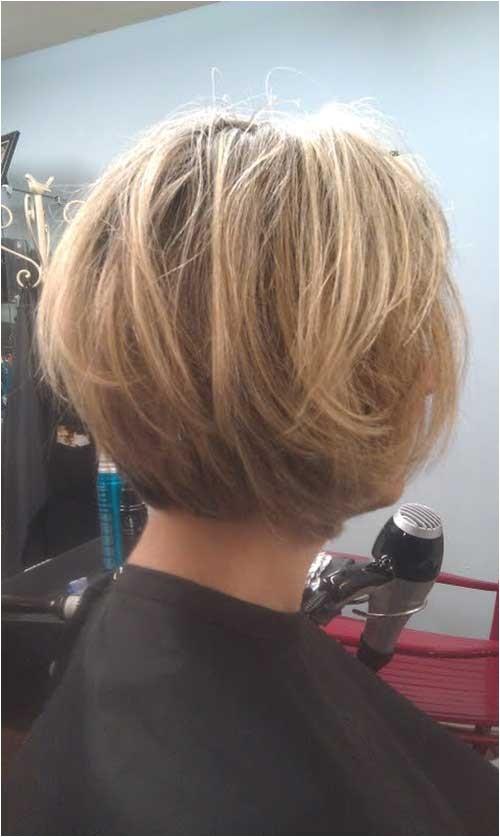 15 layered bob back view