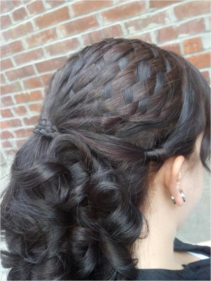 flirty side bun hat sleek basket weave braid style
