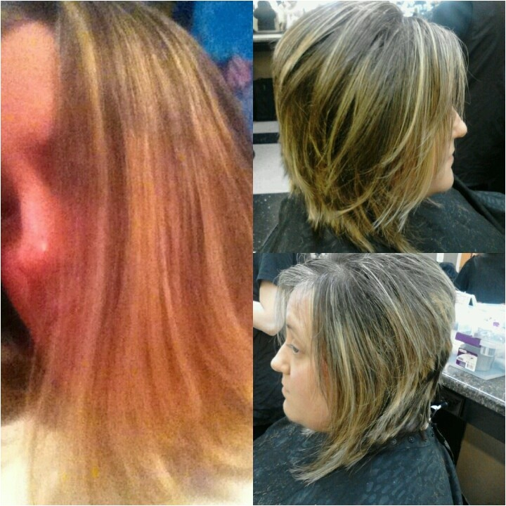 bob haircut before and after
