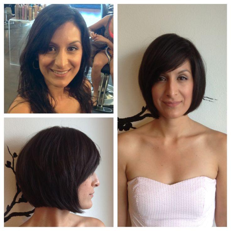 bob haircuts before and after
