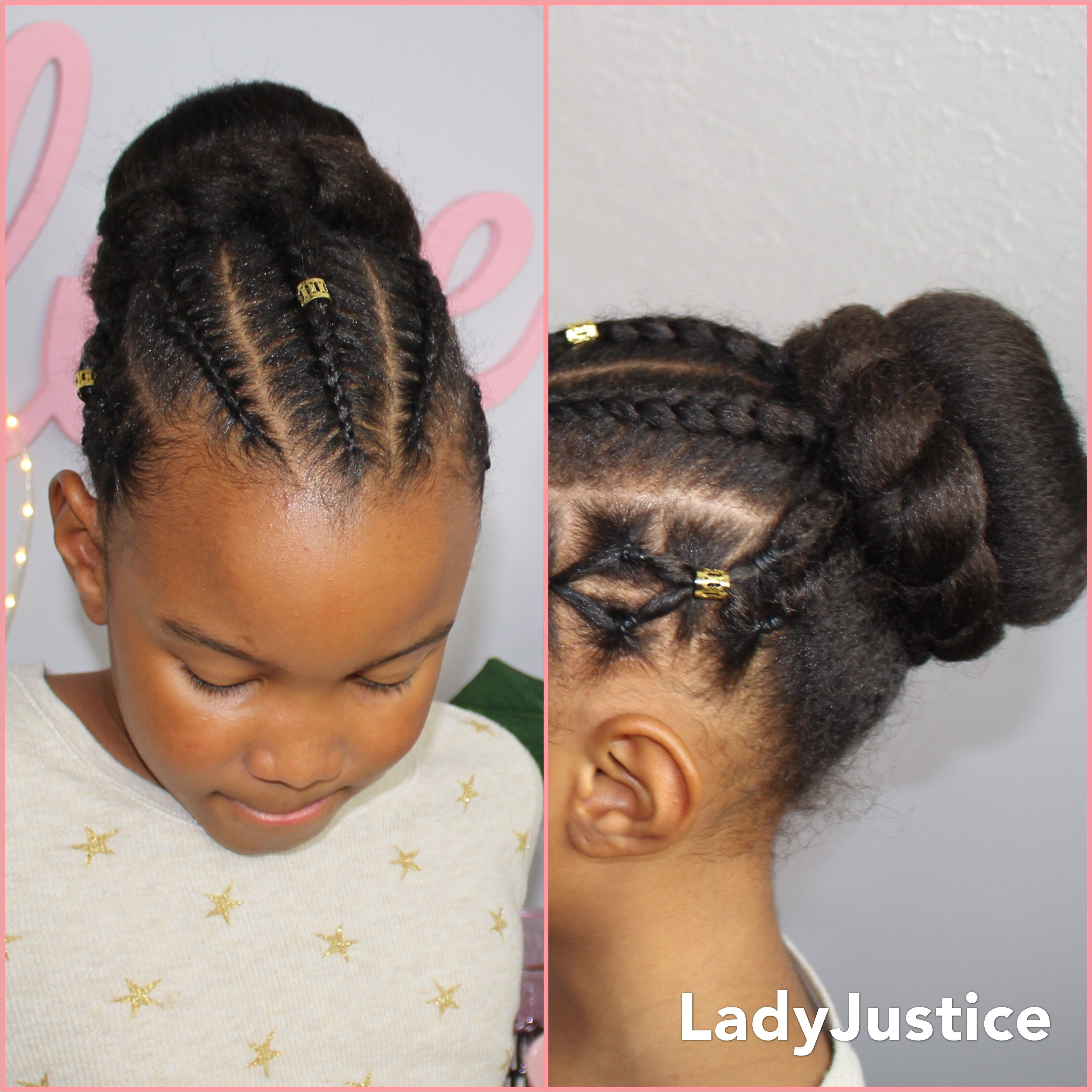 Girls Bun Hairstyle