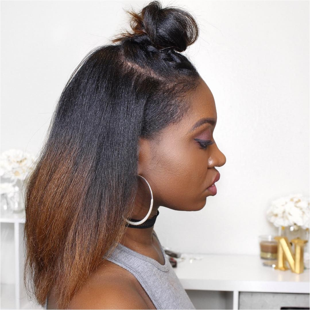 Updos for Straight Hair Natural Hair Hairstyles Buns Half Up Hairstyles African American