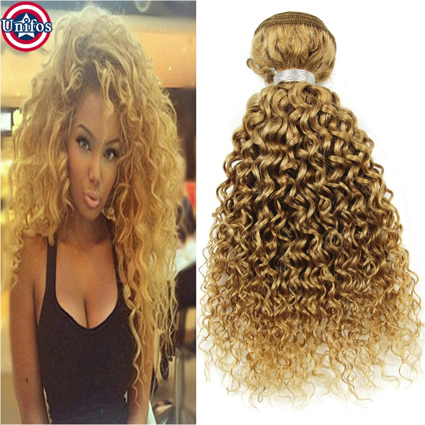 honey blonde brazilian weave