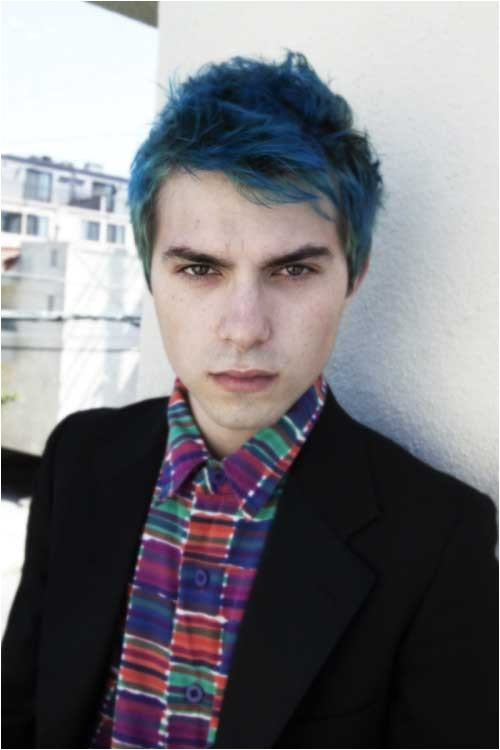 blue and green hair colors on guys respond
