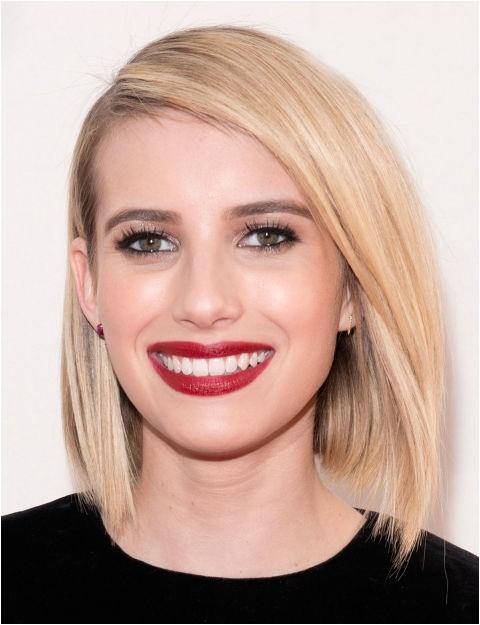 glamorous look angled bob haircut for any face shape