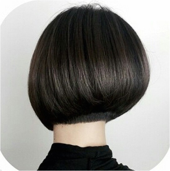 medium bob hairstyle back view