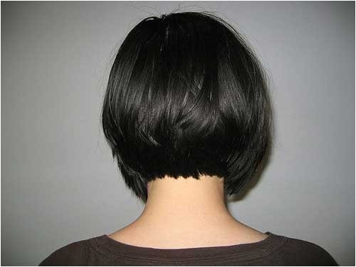Bob Haircut Shorter In Back Graduated Bob Back View