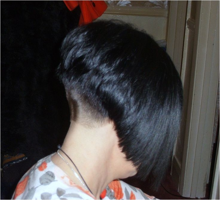 shaved nape haircut stories