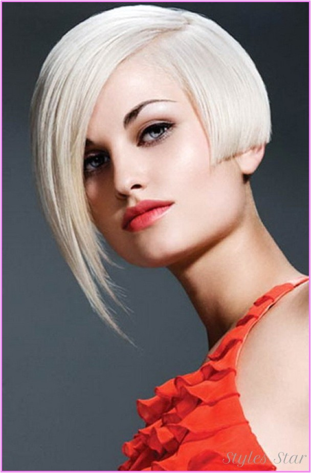 Bob Haircut with One Side Shorter E Side Short Haircut Punk Stylesstar