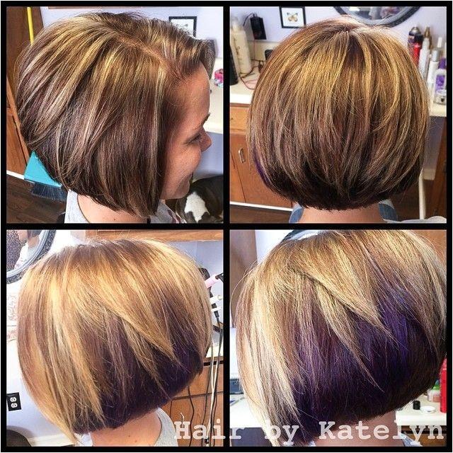 Bob Haircut with Peekaboo Highlights 2