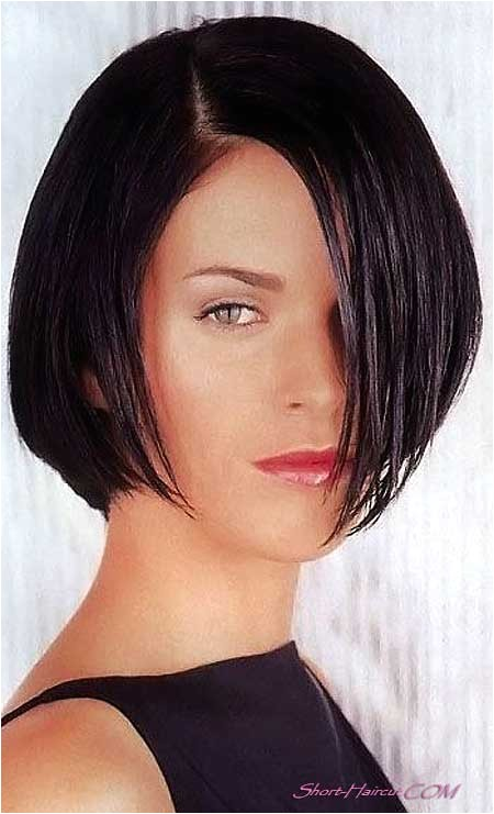 short black hairstyles without bangs