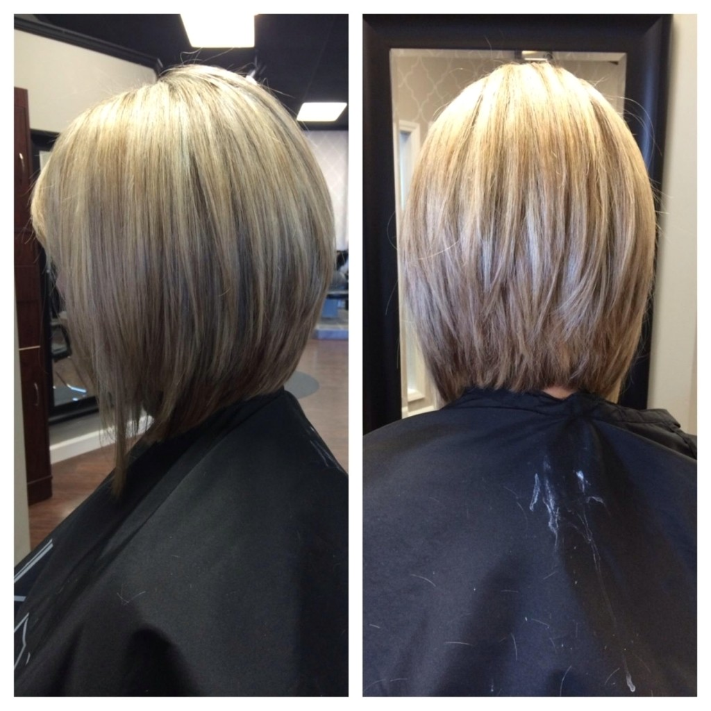 front and back view of bob haircuts