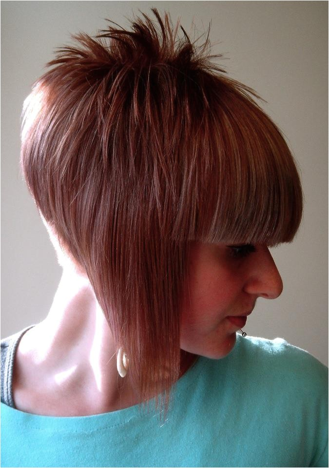 back view of short bob hairstyles with shaved napes