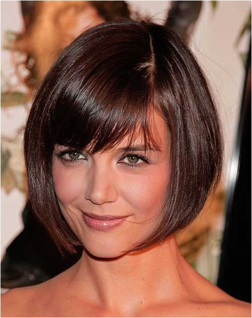 10 bob hairstyles with bangs for round faces