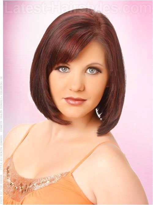 bob cuts for round faces