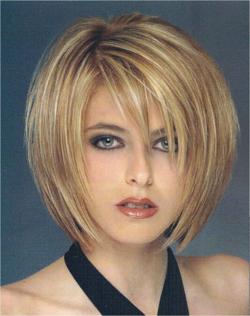 alluring layered short chin length bob hairstyle