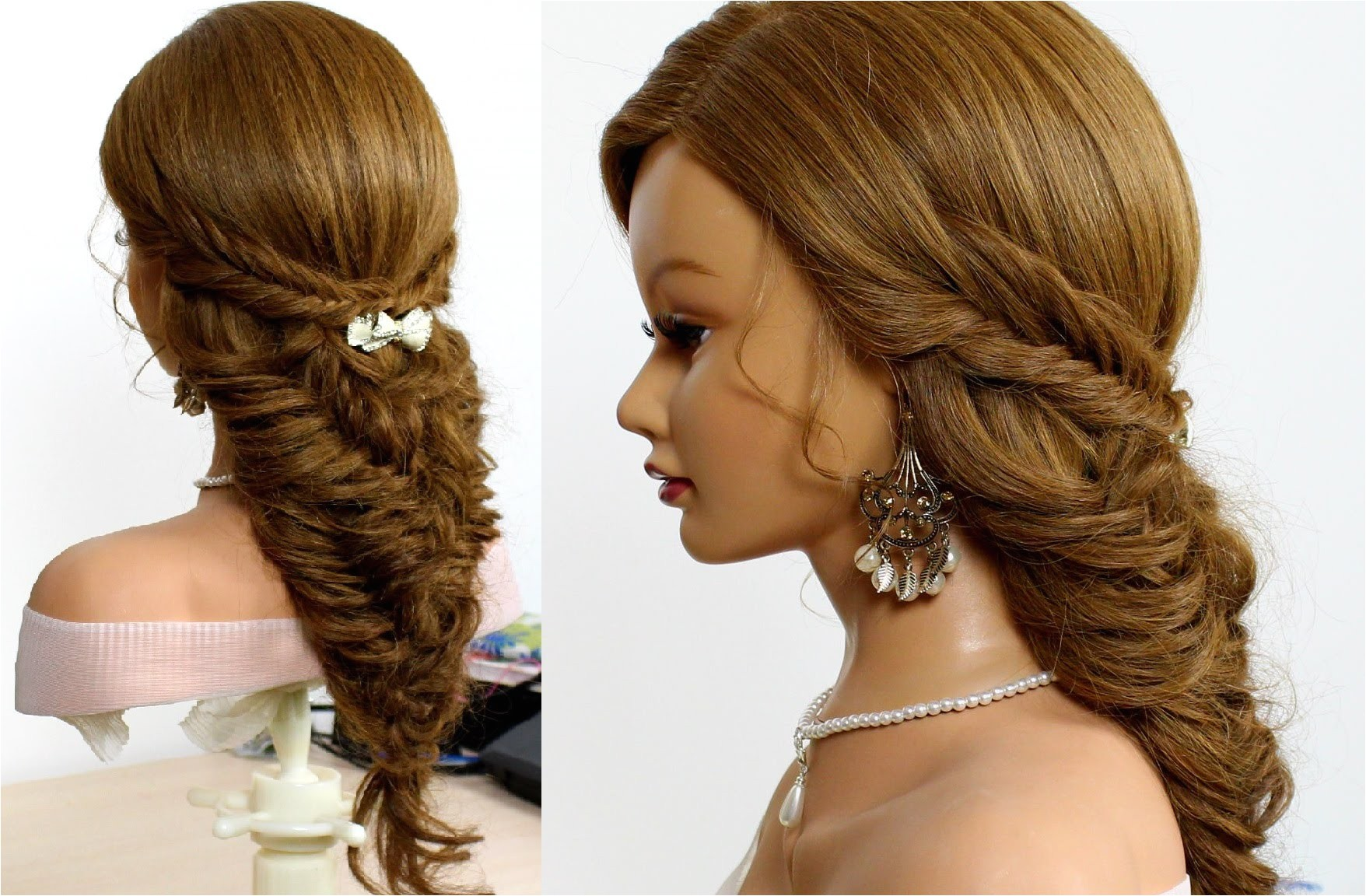 hairstyles for school fishtail braids for long hair