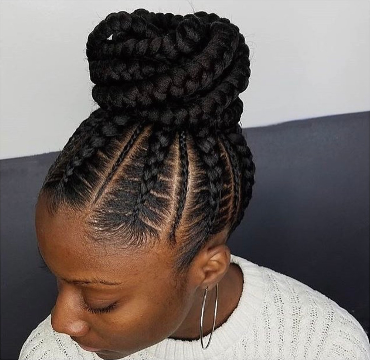 flawless braided bun narahairbraiding
