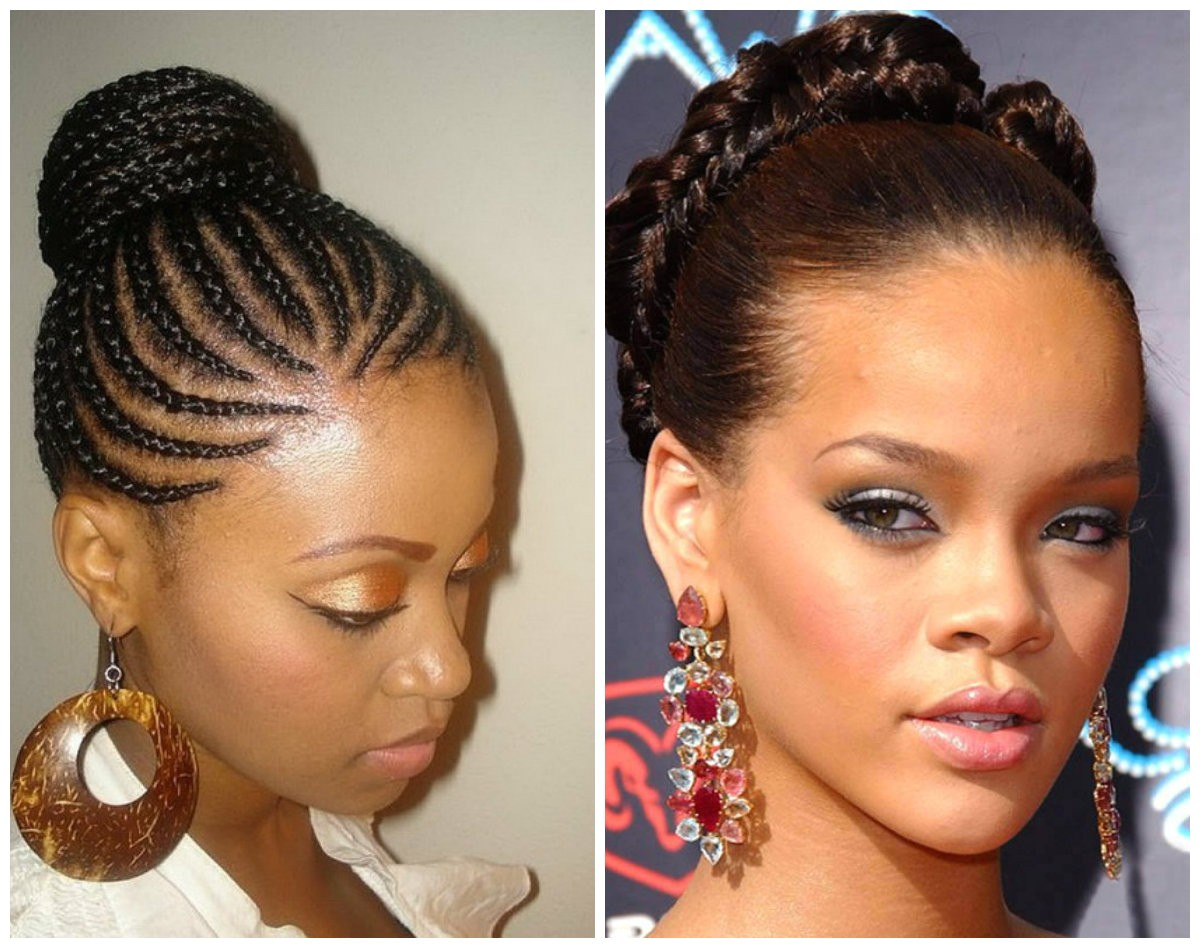 hot african american stone age inspired braided hairstyle ideas