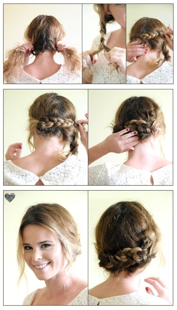braided hairstyles for short hair step by step 2