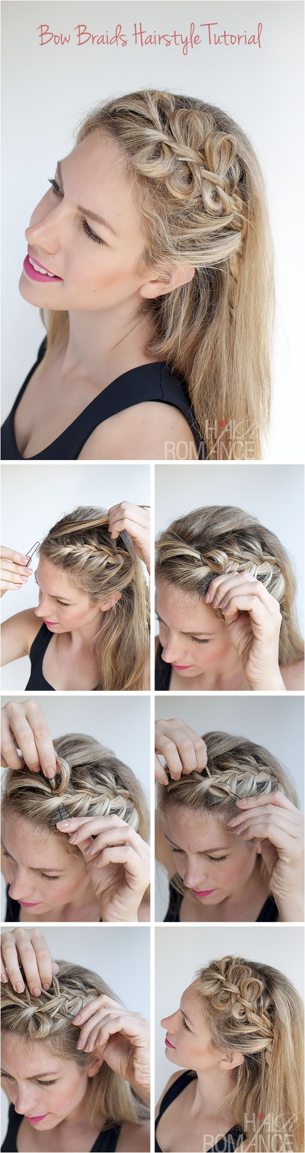 bow braids hairstyle tutorial