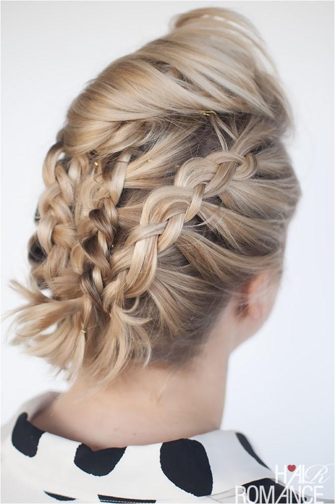 braids in short hair short hairstyle tutorial