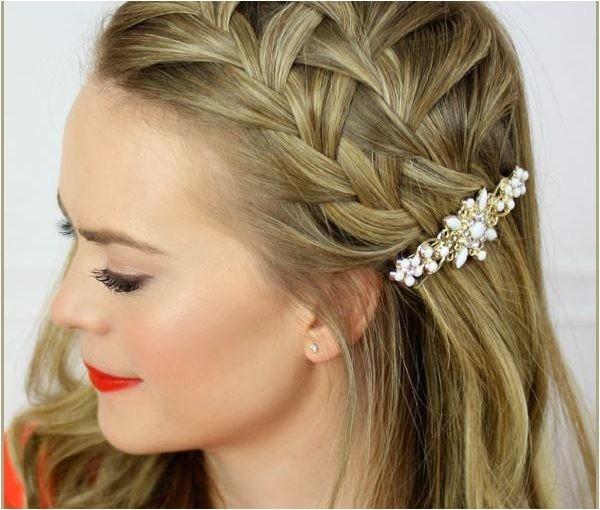 easy braided hairstyle ideas for medium length hair