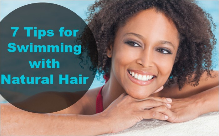 swimming natural hair