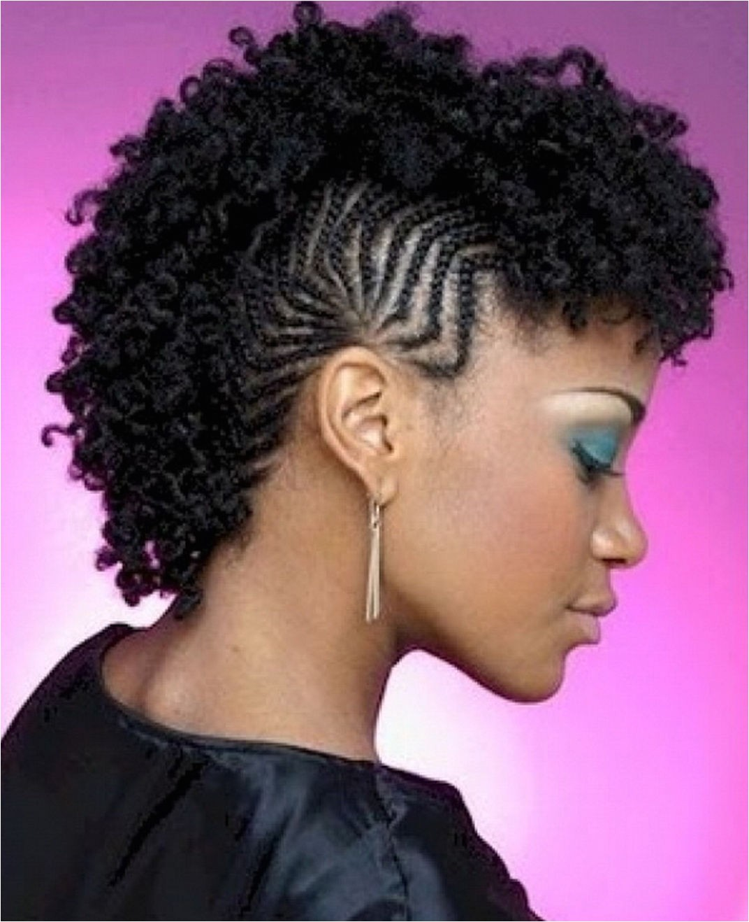 braided mohawk hairstyles for black hair with pictures