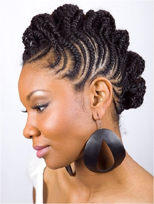 braided mohawk hairstyles for black