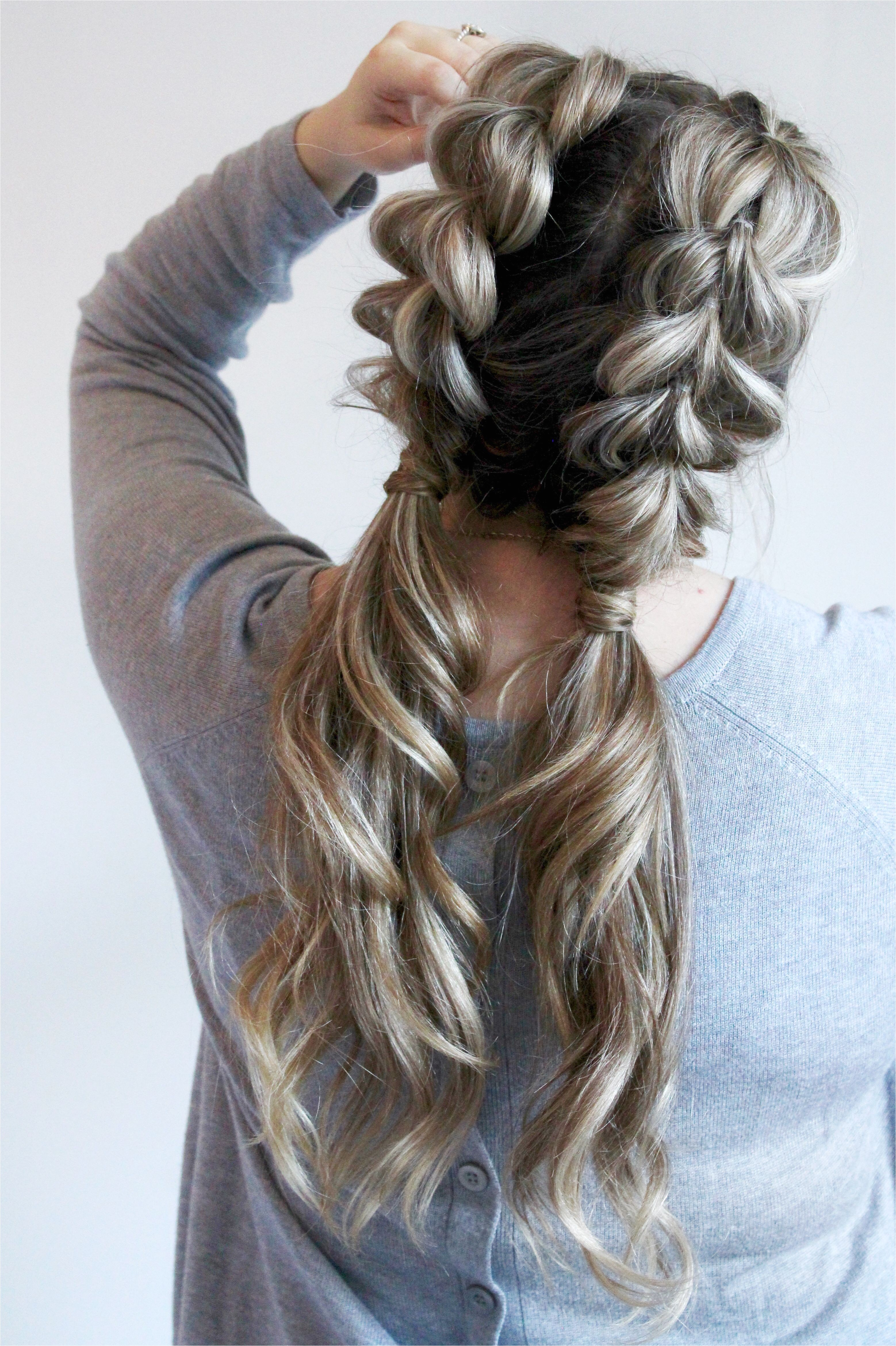 Watch how to do your own jumbo pull through braid pigtails perfect for day to day
