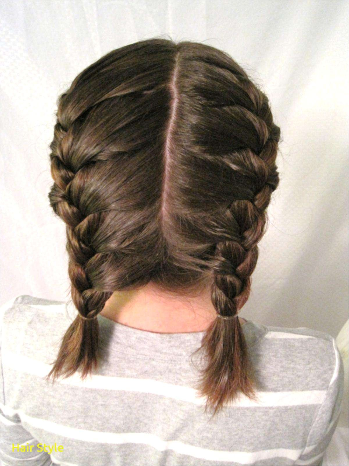 Pigtail Braids Short Hair Awesome Fascinating How to Double French Braid Short Hair U Odmalicka for