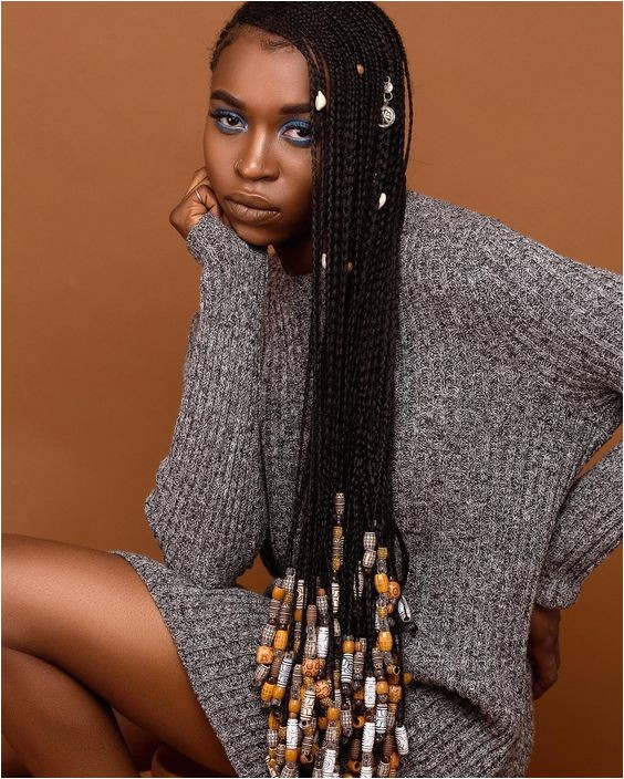 braids with beads for black women