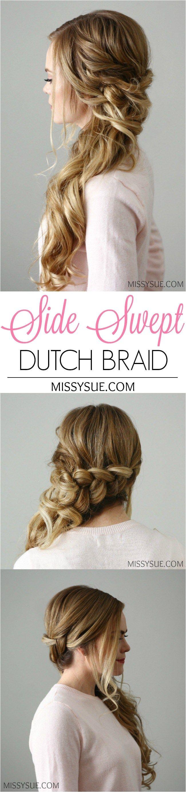 Side Swept Dutch Braid in 2018 Women s World Pinterest
