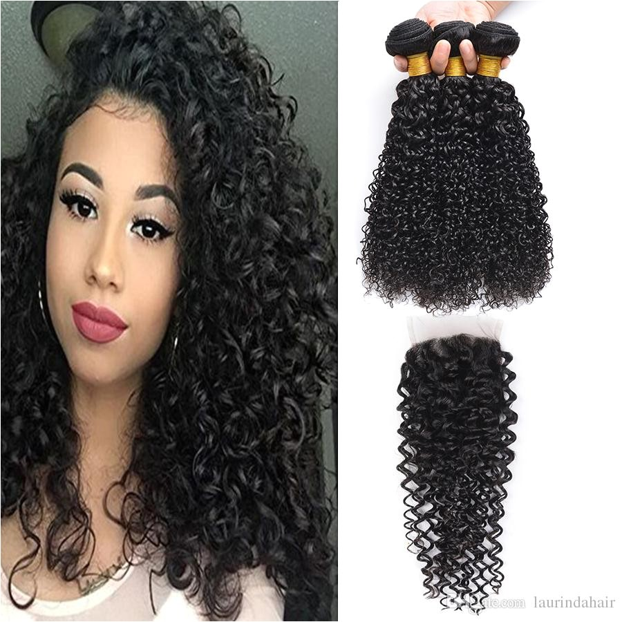 Best Cheap Human Hair With Closure Brazilian Deep Wave Human Hair Extensions Brazilian Deep Curly Weave Human Hair Bundles Under $126 71