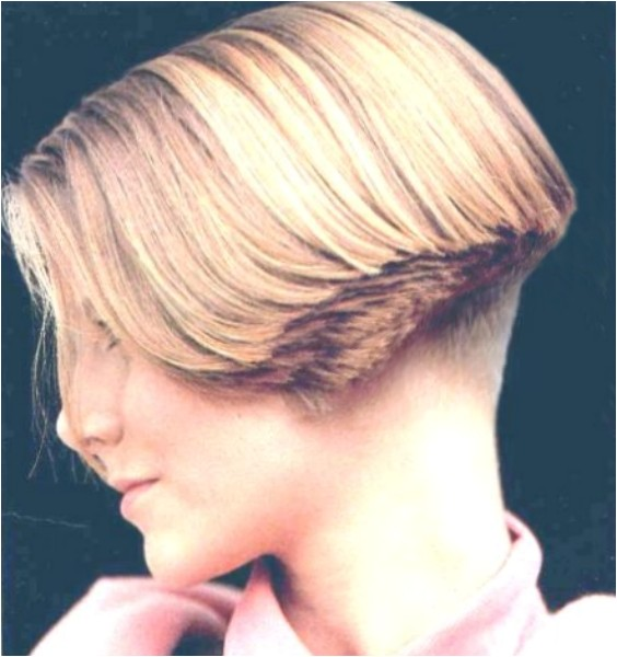 women clippered nape wedge hairstyles