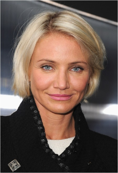 cameron diaz short haircut classic bob cut for straight hair